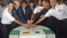 Pakistan Navy ship NASR and SAIF receive rousing reception in Colombo Sri Lanka