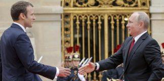 Макрон примет Путина во Франции накануне саммита G7