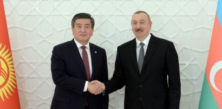 Сооронбай Жээнбеков с Ильхамом Алиевым обсудили перспективы двустороннего сотрудничества