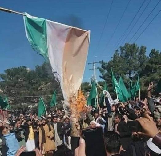 Афганистан потрясен антииндийским протестом по поводу резни мусульман; Индийский флаг сожжен в Герате